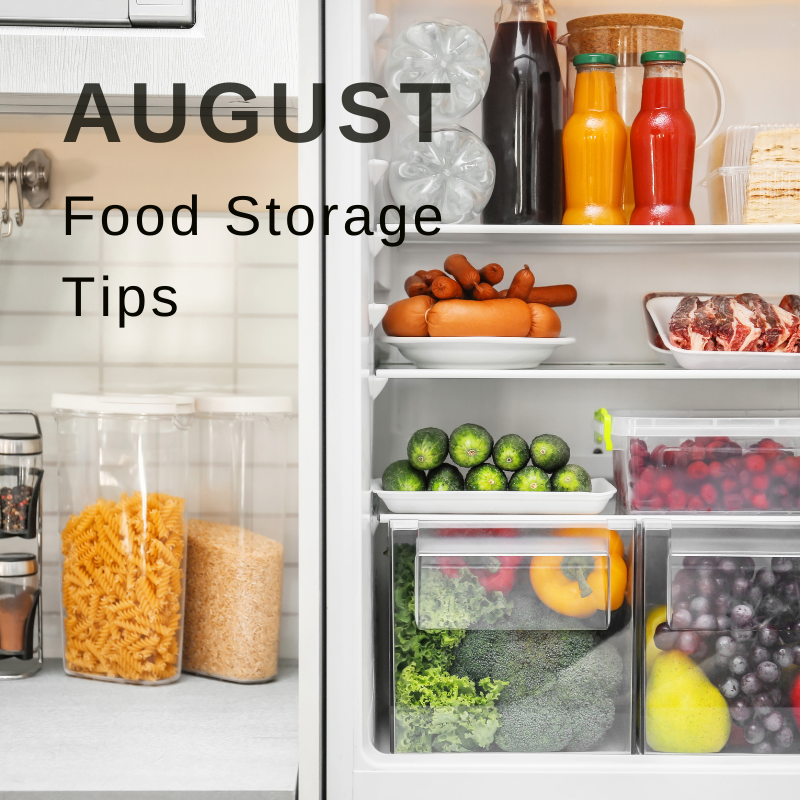 Wellbeing campaign August food storage